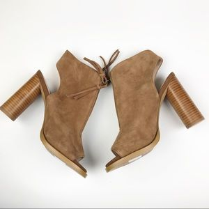 FRENCH CONNECTION Uttara Open Toe Zip Ankle Bootie